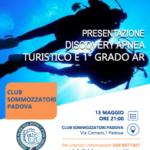 Locandina presentazione corsi di 1° grado AR e Turistico APNEA